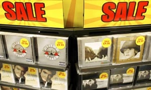 CDs on sale