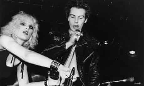 Sid Vicious, bass player with the Sex Pistols, with girlfriend Nancy Spungen