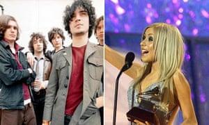 The Strokes and Christina Aguilera (right)
