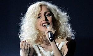 Lady Gaga at the 2009 American music awards