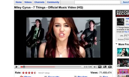 Miley Cyrus on the YouTubes