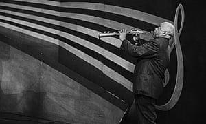 Sidney Bechet on soprano saxophone