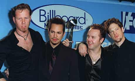 Metallica with former bassist Jason Newsted