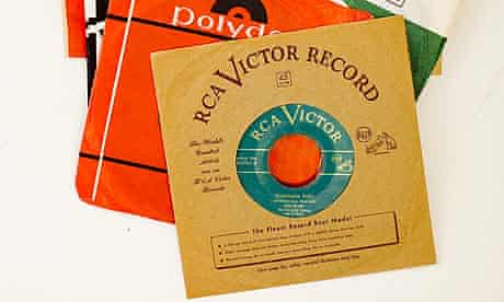 A collection of early vinyl records