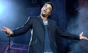 Robbie Williams in concert, Sydney, Australia