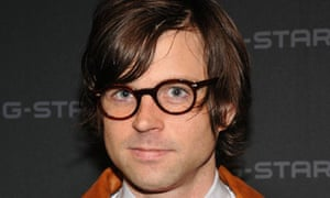 Musician Ryan Adams poses backstage at the G-Star fashion show in 2008