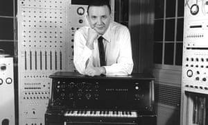 Raymond Scott in his musical laboratory