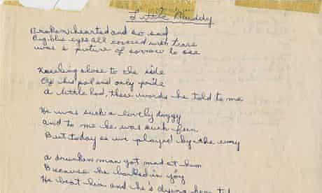 Bob Dylan teenage poem