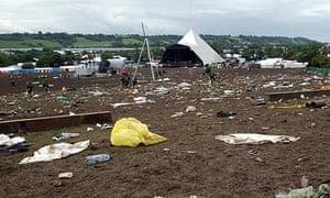 Glastonbury festival clean up