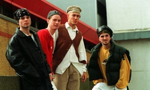 Pop Group East 17. L-R: Brian Harvey, Tony Mortimer, John Hendy And Terry Coldwell