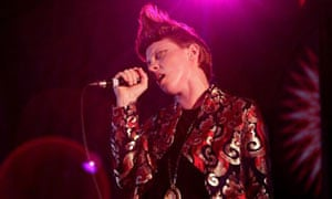Elly Jackson of La Roux performing in Dance East at Glastonbury 2009