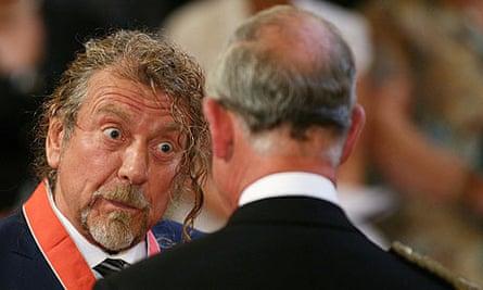 Robert Plant with Prince Charles