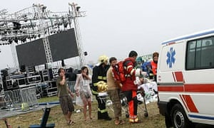 Paramedics at Pohoda music festival in Slovakia
