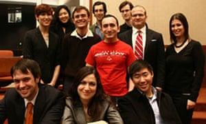 Joel Tenebaum and his legal team