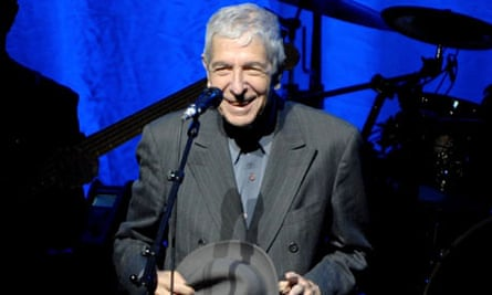 Leonard Cohen Performs In Manchester