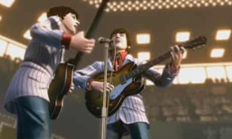 Still from the Rockband: The Beatles video game