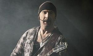 U2's The Edge at Wembley stadium