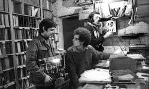 Geoff Travis at Rough Trade in 1977