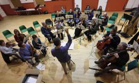The Cobweb Orchestra at a rehearsal.