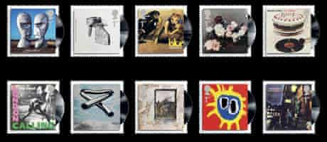 Royal Mail stamps featuring Coldplay