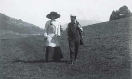 Gustav Mahler and his wife Alma
