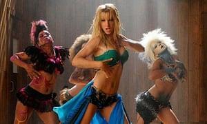 Heather Morris as Britney Spears in Glee