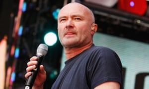 Against all odds ... Phil Collins onstage.