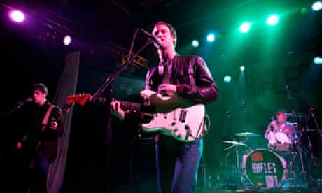 The Rifles on their money-spinning 2009 tour – but the band's EFG loan application was rejected.