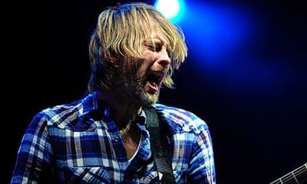 Thom Yorke of Radiohead at the Big Chill 2010