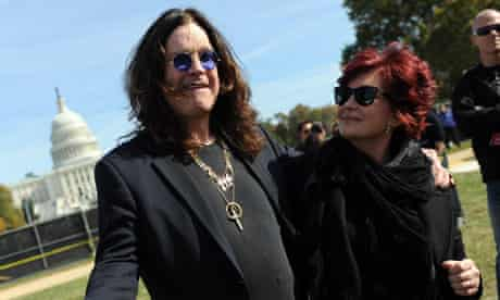 Ozzy Osbourne with wife Sharon at Jon Stewart's Rally to Restore Sanity and/or Fear on Saturday.