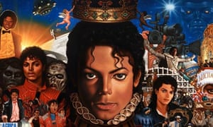 Detail from the Kadil Nelson's cover painting for Michael Jackson's new album, Michael.
