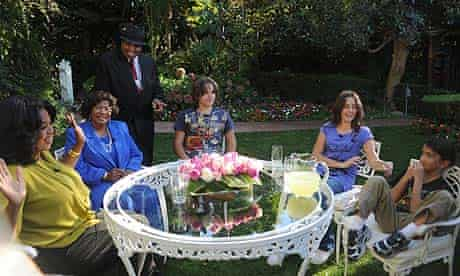 Oprah Winfrey with Michael Jackson's family