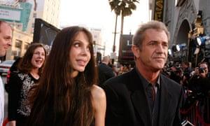 Mel Gibson and Oksana Grigorieva on red carpet
