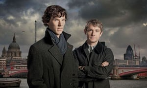 Benedict Cumberbatch as Sherlock Holmes and Martin Freeman as Doctor John Watson