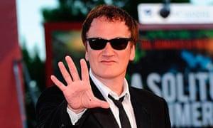 Quentin Tarantino at the Venice film festival 2010