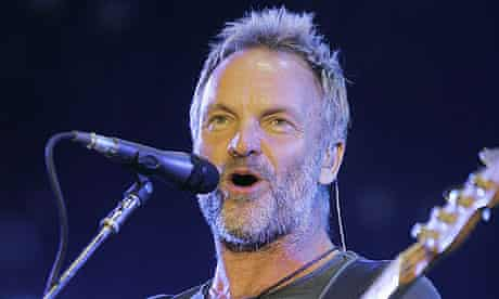 Sting performing with the Police in 2008