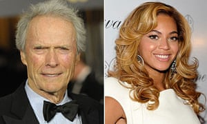 Clint Eastwood and Beyonce Knowles