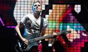 Matt Bellamy of Muse at Glastonbury 2010