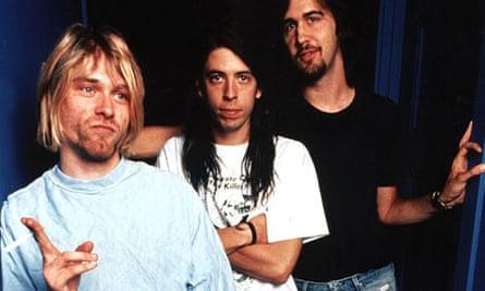 Nirvana's Kurt Cobain, Dave Grohl and Krist Novoselic