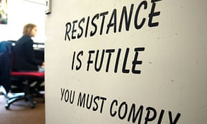 Resistance is Futile sign