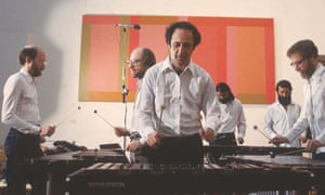 Steve Reich and five bearded colleagues playing vibraphones