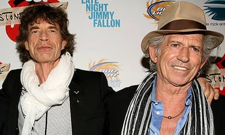 Mick Jagger and Keith Richards in 2010