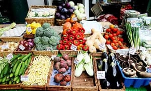 Borough Market vegetable stall