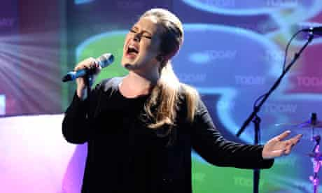 Singled out ... Adele in full flow on the US's Today show.
