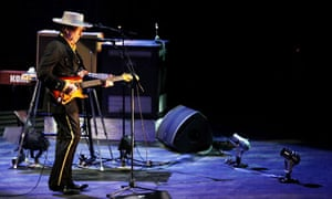 Bob Dylan performs at the Beijing Workers' Gymnasium on 6 April.