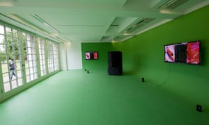 Up the garden path ... Mark Leckey's GreenScreenRefrigeratorAction at the Serpentine Gallery.