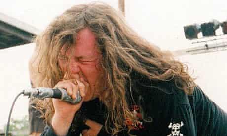 Seth Putnam at Relapse festival in 1993