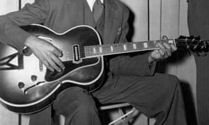 Guitarist Charlie Christian circa 1940 in New York