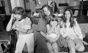 Frank Zappa with his family