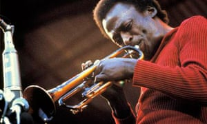Miles Davis performing live onstage at the Isle of Wight festival